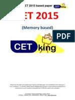 CET 2015 Paper by Cetking