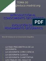 Tema 00 Introducción 3 Evolución Del Pensamiento Geográfico