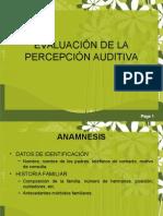 evaluacion percepcion acústica