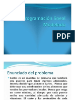 Programacion Lineal Modelado