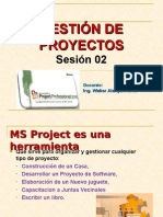 BASE TEORICA DE MS PROJECT SESION 02