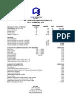 Lista de Precios Alquiler y Reposicion Formaleta