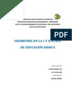 Aplicacion de La Geometria en La i y II Etapa de Educacion