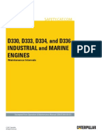 D330, D333, D334, D336 Industrial and Marine Engines-Maintenance Intervals
