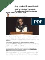 03.11.14 PGR urge acelerar coordinación para sistema de justicia