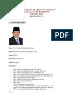 Daftar Riwayat Hidup Cv Singkat Pasangan Sby Boediono Pilpres 2009