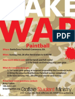 Paintball Info Packet