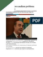 09.09.14 Procuradores analizan problema migratorio