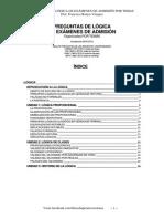 Preguntas LOGICA Por Temas Examen Admision (Prof Francisco Ramos)
