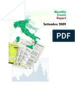 Monthly Report Settembre 2009