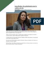 07.03.14 Oaxaqueña, Mariana Benítez, fue galardonada como la mejor servidora pública del año