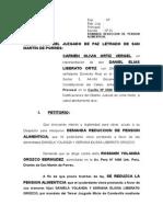 Demanda de Reduccion de Alimentos-liberato Ortiz