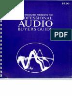 Audio Magazine Presents the Prof. Audio Buyers Guide (1968)