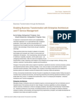 Business Transformation Through Architectures