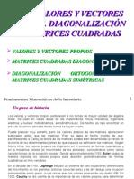 diagonalizacion de  Matrices