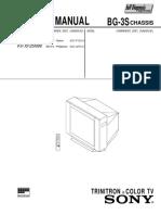 Sony KV-XF25N90 (Chassis BG-3S) Manual de Servicio
