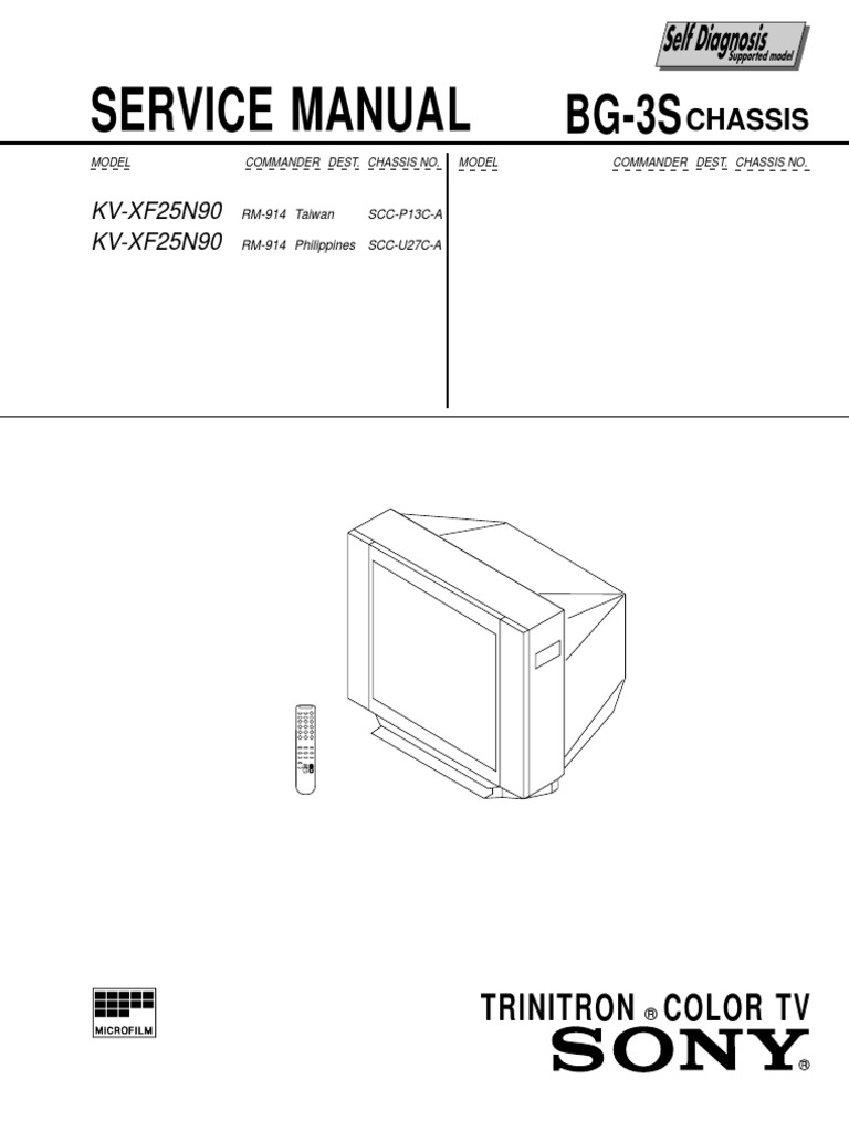 Sony kv xf25n90 chassis bg 3s manual de servicio cathode ray sony kv xf25n90 chassis bg 3s manual de servicio cathode ray tube video pooptronica