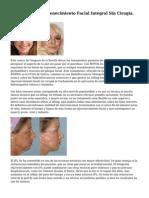 Mesoplastia. Rejuvenecimiento Facial Integral Sin Cirugia.