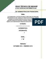 Los fundamentos y procesos llevados a cabos para una adecuada administración de las cuentas por cobrar de una empresa)