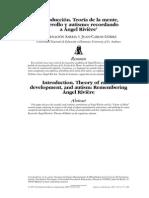Introducción. Teoría de La Mente, Desarrollo y Autismo. Recordando a Ángel Rivière