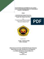 Implementasi Kebijakan Retribusi Jasa Umum Penyelenggaraan Transportasi Bidang Perpakiran Di Kota Palembang Tesis Bab i - Vi