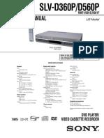 Videocasetera Sony VHS SLV-D360P