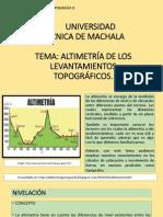 Altimetría de Los Levantamientos Topográficos