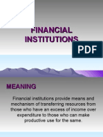 Financial. Institution & IFCI