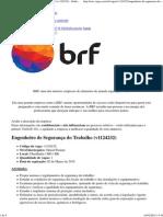 Vaga Engenheiro de Segurança Do Trabalho - BRF (v1124232) - Grátis Para Candidatos _ VAGAS.com