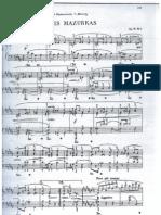 Trois Mazurkas de Chopin