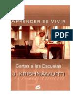 Cartas A Las Escuelas Volúmenes I Y II (Jiddu Krishnamurti)