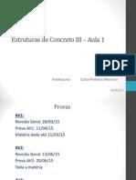 Estruturas de Concreto III - Aula 1