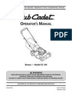 Cub Cadet SC100 Manual