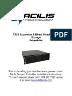 Facilis TX16 Setup Guide