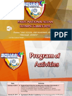 SCUAA Program Activities