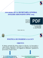 Asignación Opsu - Ucv - 2015