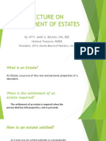 Settlement of Estates