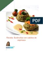 Budincitos Con Cabitos de Espinaca