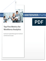Top metrics for HR