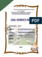 Monografía - Karl Heinrich Marx