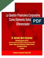 La Gestion Financiera Corporativa Como Elemento Estategico Diferenciador