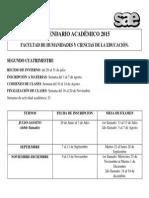 Calendario Académico 2º Cuatrimestre unlp
