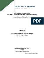 Ensayo Evaluación Del Aprendizaje
