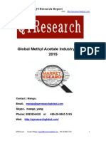 Global Methyl Acetate Industry Report 2015