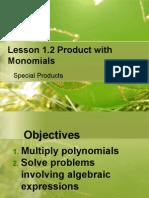 g8l1 2 product with monomials wq