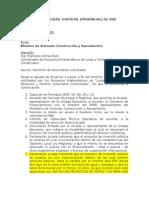 Documentación a Presentar Por Municipalidades