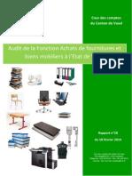 Rapport Cour comptes Fonction Achat
