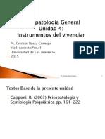 Psicopatologia General Unidad 4