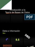 Intro a Diseño de Bases de Datos