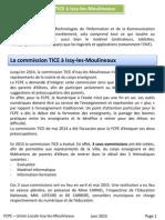 Commission Tice 2015 Issy Les Moulineaux FCPE union locale 2015